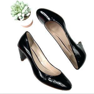 Elie Tahari Black Round Toe Heels